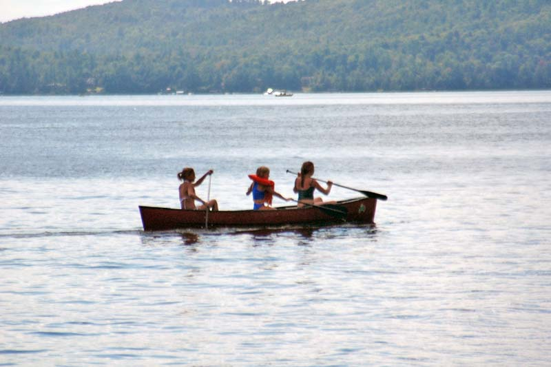 Canoeing on Lake George