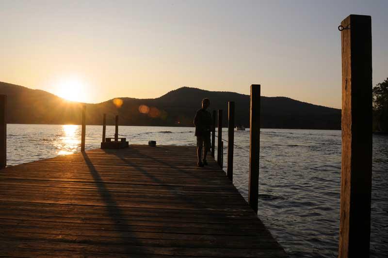 Fishing from the Dock at Canoe Island Resort