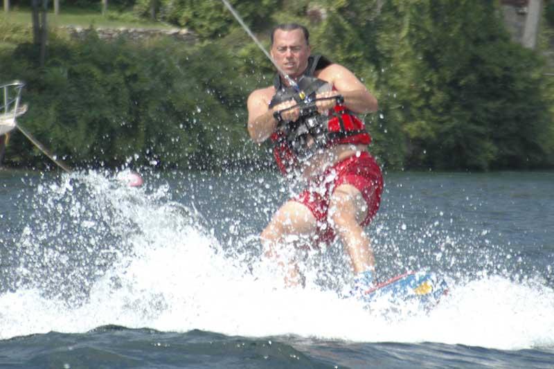 Water skiing on Lake George