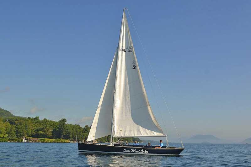 Sailing on Lake George