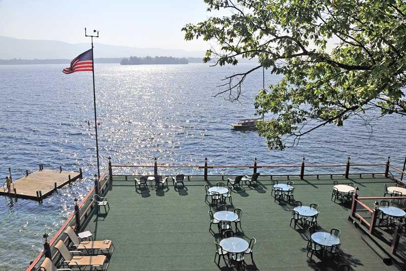 Deck overlooking Lake George