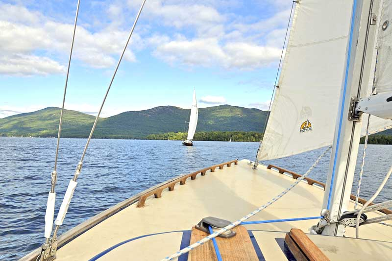 2 boats Sailing on Lake George, NY