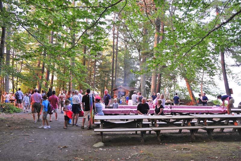 BBQ on Canoe Island