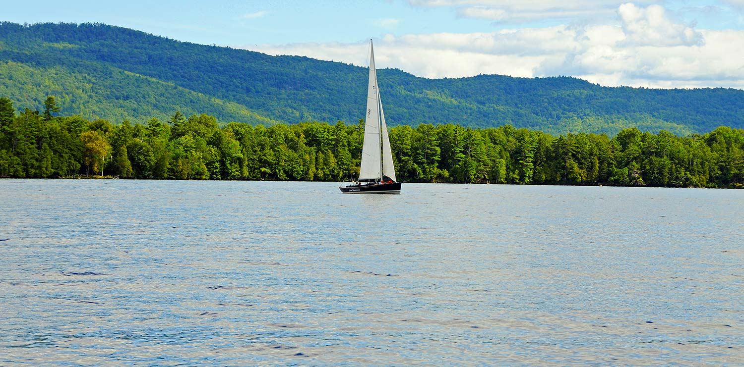 Sailboat on Lake George