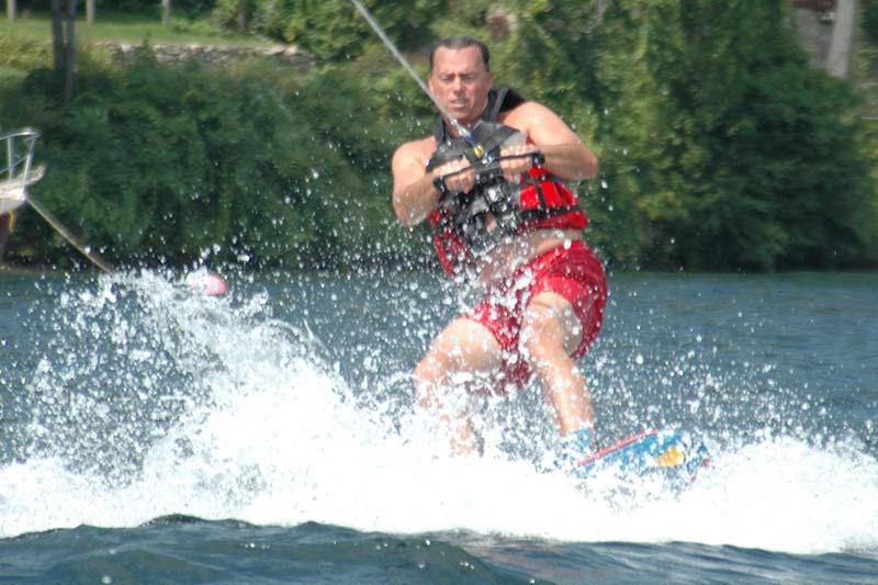 Wakeboarding on Lake George