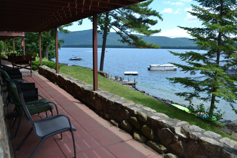 View out to lake george from patio